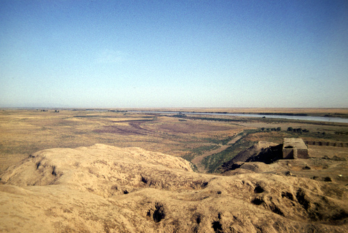 View form the top of Ziggurat at Ashur