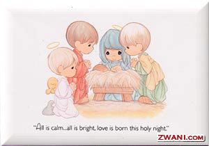 All is calm...All is bright...Love is born on this holy night.