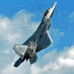 F22 Raptor with Assyrian star and Allaha Ashur