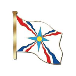 Assyrian flag pin
