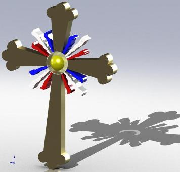 Assyrian 3D Cross by an Ashuria